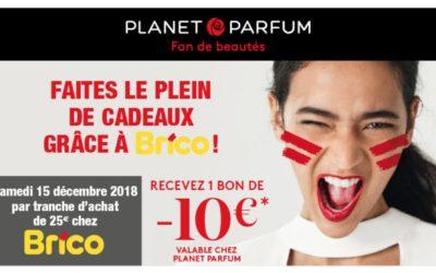 Recevez un bon de – €10 euro valable chez Planet Parfum