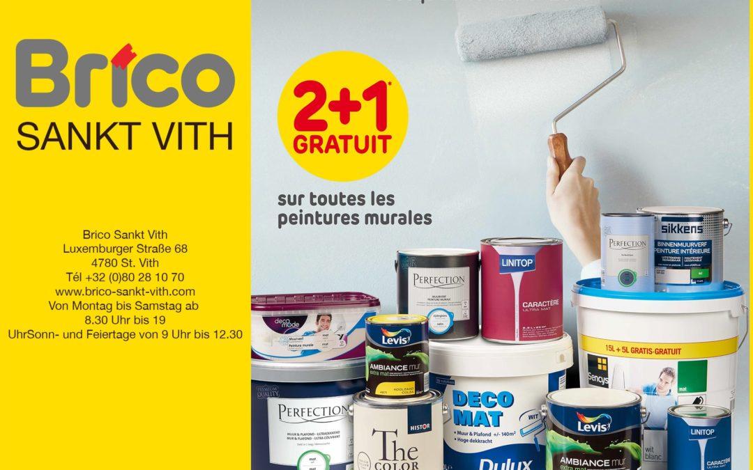 2+1 gratuit* sur toutes les peintures murales