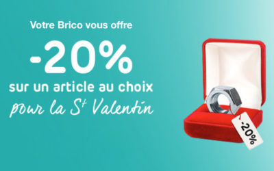 Nous gâtons nos clients pour la St Valentin chez Brico