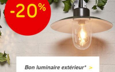 -20%* auf alle Außenlampen