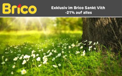 Exklusiv im Brico Sankt Vith -21% auf alles*