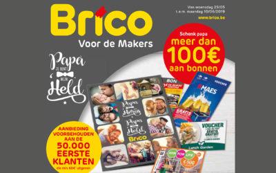 Bied vader meer dan 100 € aan in vouchers