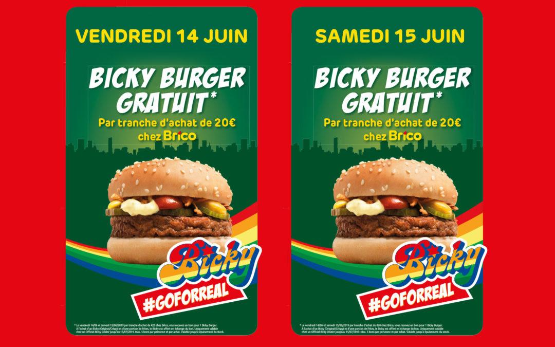 Bicky burger gratuit*