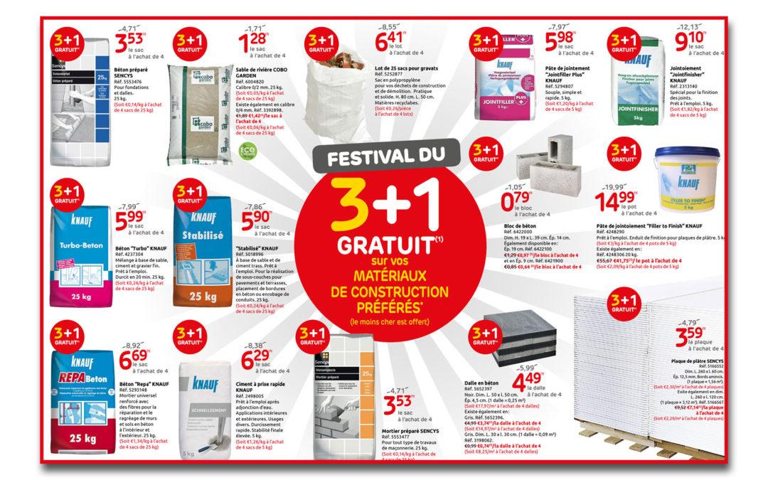 Festival du 3+1 gratuit*