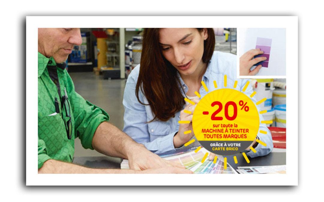 -20% auf unsere Farbmischungenmit der MonBrico Karte