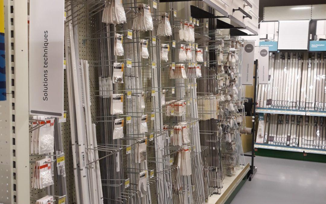 Schauen Sie einmal vorbei in unserem neuen Regal der Gardinenstangen