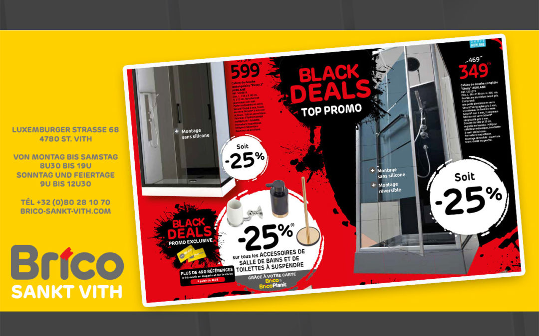 Black Deals top promo chez Brico St Vith