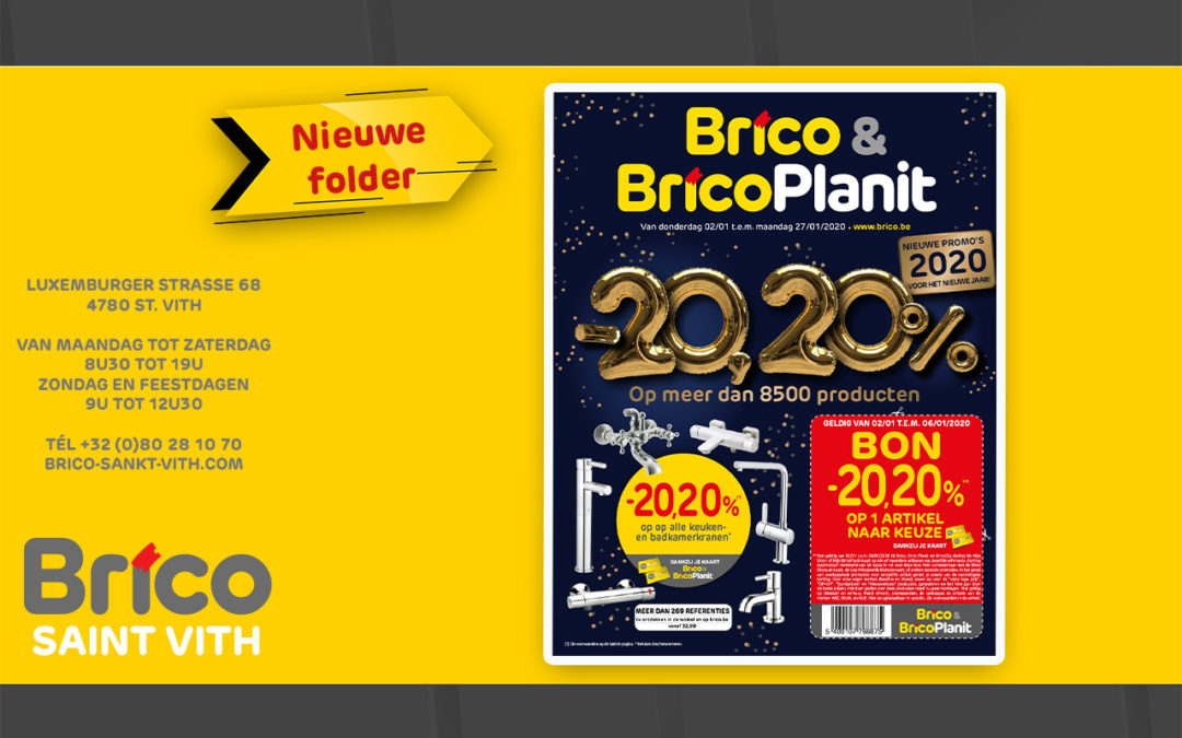 Nieuwe folder geldig van 02/01 tot 27/01/2020