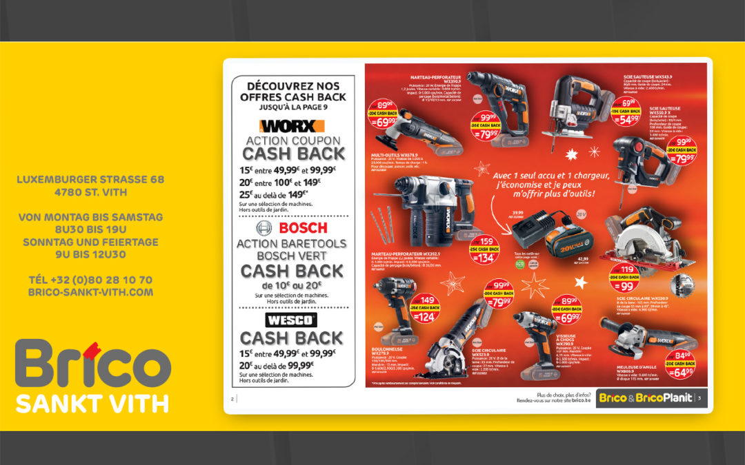 cash back brico st Vith