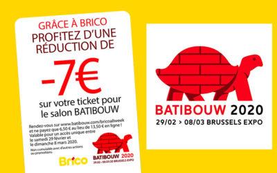 Profitieren Sie von einen Rabatt auf Ihre Eintrittskarte auf der Ausstellung Batibouw