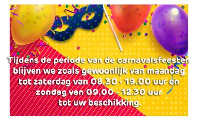 Opening tijdens de carnavalsfeesten