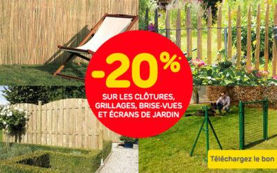 Angebot gültig auf die Holz- und Maschendrahtzäune, Sichtschutz und Sichtschutzpanele