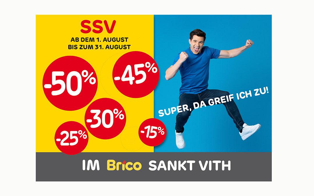 Sommerschlussverkauf im Brico Sankt Vith