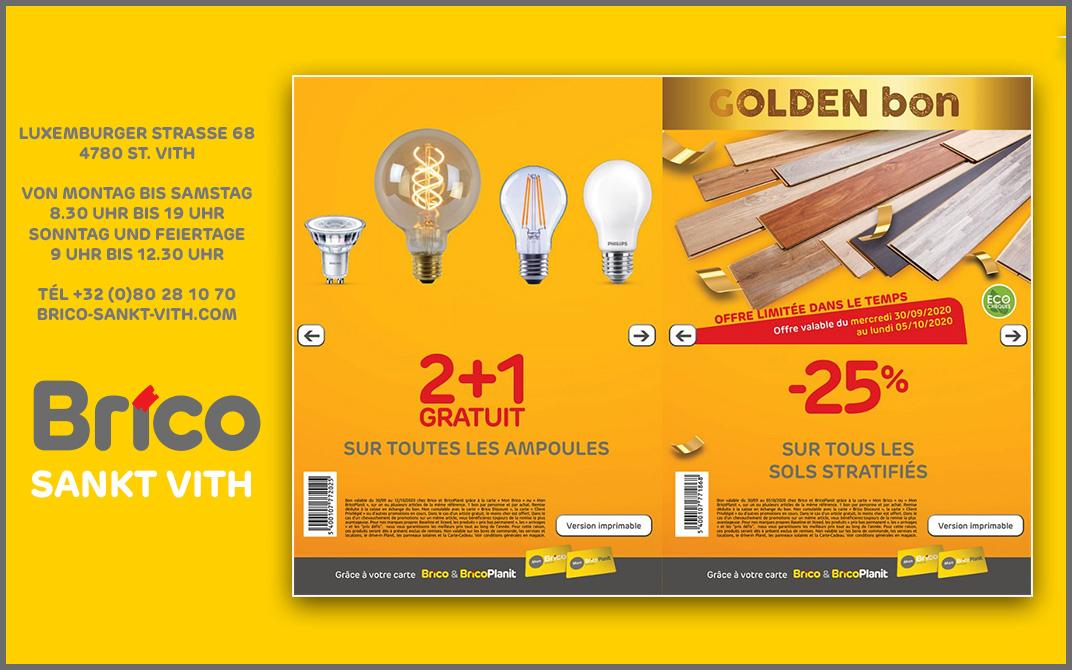 Profitieren Sie von unseren Angeboten auf alle Glühbirnen und auf alle Laminatfussböden.