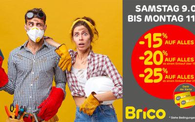 """Dank der """"Mon Brico"""" -Karte, profitieren Sie  von den Angeboten bis zu -25%* auf alles."""