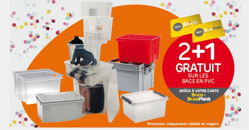 Profitieren Sie von unser Angebot 2+1 Gratis* auf die PVC-Kisten