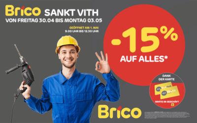 """Profitieren Sie von – 15%* auf alles dank der Karte """"MonBrico'"""