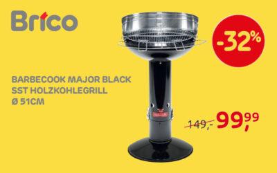 Profitieren Sie von unsere Angebote auf dem Barbecook Major Black SST Holzkohlegrill*